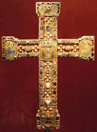 Cruz de altar otoniana del siglo X. Abadía de Essen