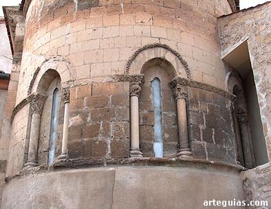Exterior del ábside. Iglesia de Santiago de Turégano