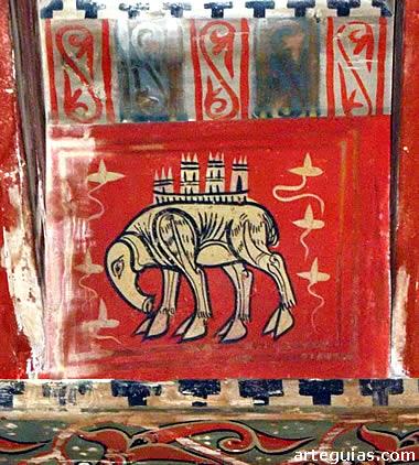 Pinturas góticas-mudéjares del artesonado