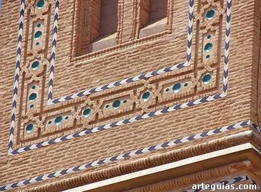 Detalle de la decoración mudéjar