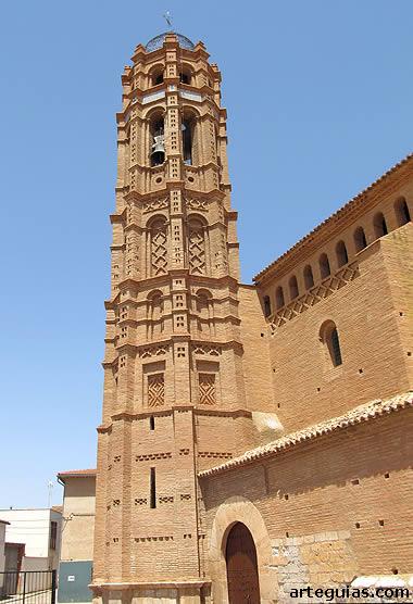 Torre de la iglesia de Mainar. Comarca de Campo de Daroca