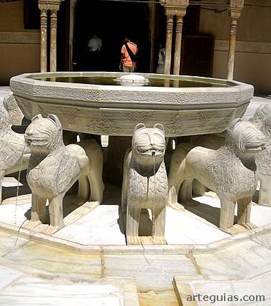 Fuente de los leones, La Alhambra nazarí