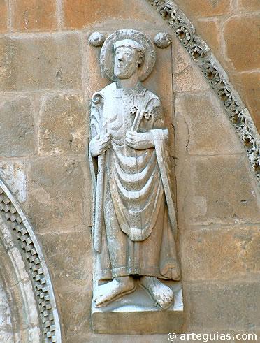Detalle escultórico de la iglesia de San Isidoro de León