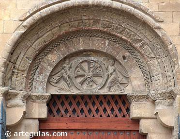 Puerta de la iglesia del Monasterio de San Pedro el Viejo de Huesca