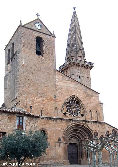 San Pedro de Olite desde el oeste