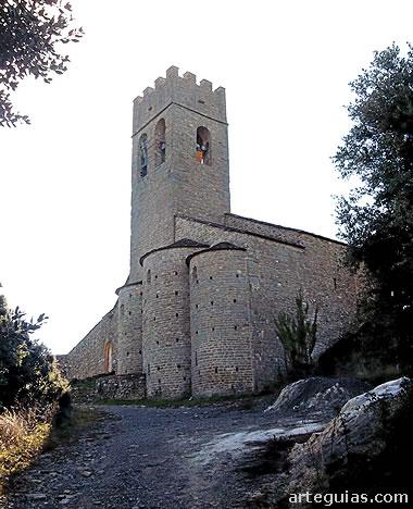 Cabecera t torre de la iglesia de Santa María de  Muro de Roda