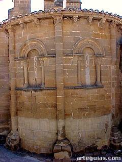 Magnífico ábside románico de la iglesia de El Salvador