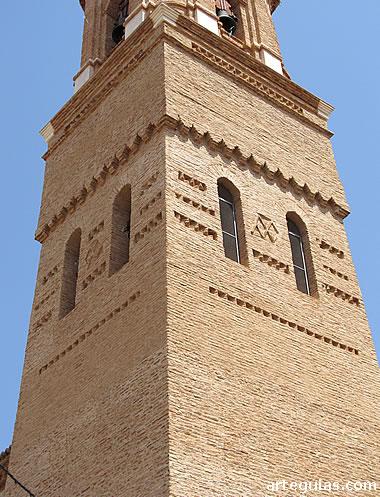 Villarreal de Huerva: campanario de la iglesia parroquial
