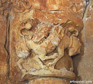 Resultado de imagen de Aldealengua de Santa María. Iglesia de Santa María capitel
