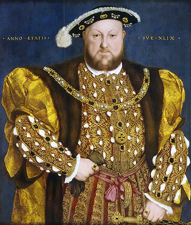 Retrato de Enrique VIII que se proclamó jefe de la Iglesia Anglicana