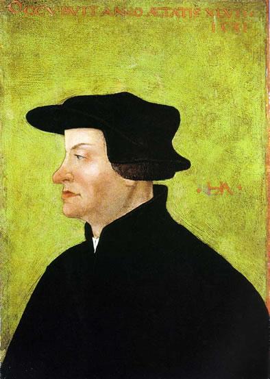 Página sobre la Inquisición Española. En la imagen:  Zwinglio,  líder de la Reforma Protestante suiza y el fundador de la Iglesia Reformada Suiza