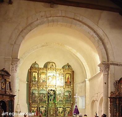 Interior de la cabecera de la iglesia de La Cuesta