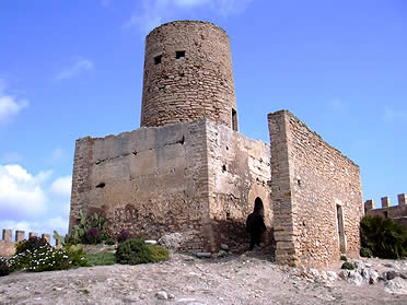 Una parte del castillo de Capdepera, Mallorca