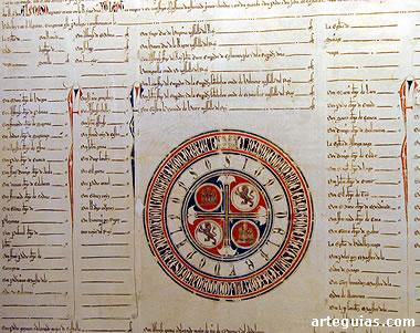 Reproducción de la donación real de Alfonso X el Sabio