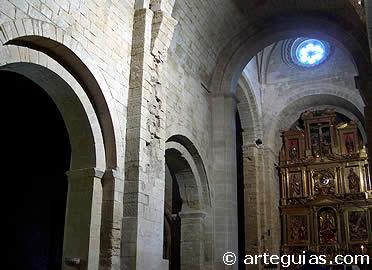 Interior de la iglesia. San Pedro el Viejo