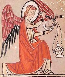 Pintura de San Miguel de Foces (Huesca) . Gótico Lineal