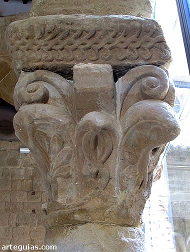 Capitel del claustro románico del Museo Diocesano de Huesca