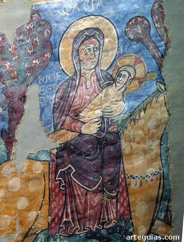 El Museo de Jaca se asocia a las pinturas de Bagüés, pero tiene mucho mñas, como este fragmento de Navasa (Huida a Egipto)