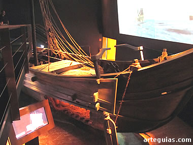 Reproducción de un barco romano