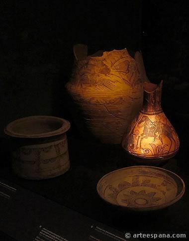 Cerámica ibérica: Jarro de cerámica ibérica con decoración pintada hallado en el Tossal de Manises