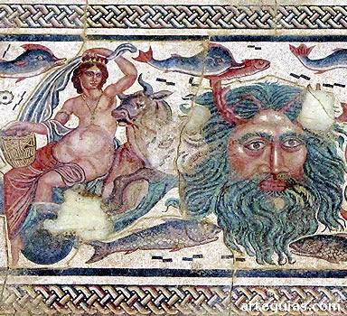 Excelente mosaico romano en el Museo Arqueológico de Palencia