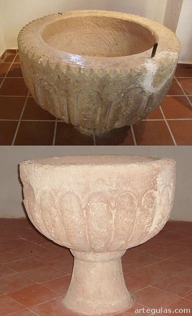 Pilas bautismales románicas de iglesias de Atienza