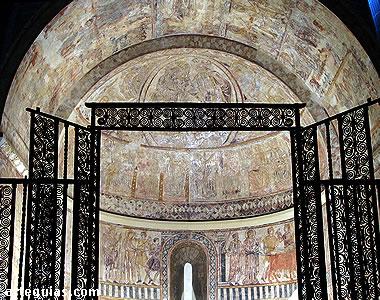 Pinturas murales góticas  pertenecientes a la iglesia de la Virgen del Rosario de Osia