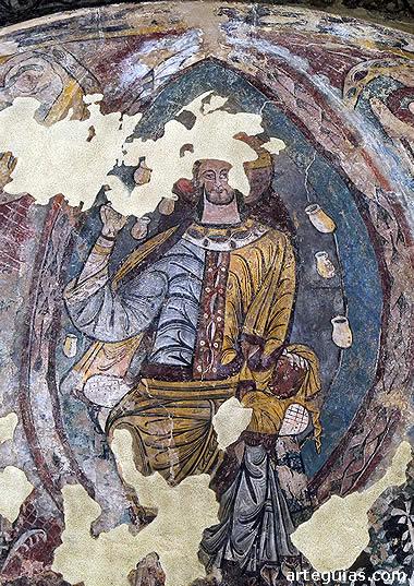 Cristo en Majestad original de la iglesia de Ruesta