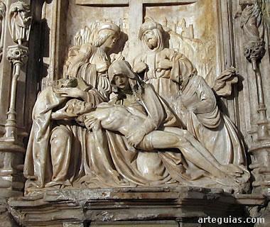 Piedad del retablo de alabastro de la abadía de Montearagón