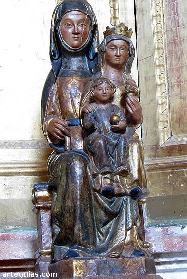 Grupo de Santa Ana, María y el Niño Jesús. Museo del Retablo de Burgos