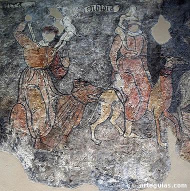 Los pecados capiteles, pinturas procedentes de Sieso de Jaca