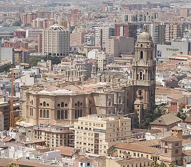 Catedral de Málaga desde Gibralfaro