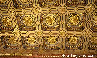 Artesonado mudéjar del Salón del Trono