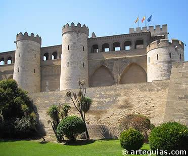 Palacio de la Aljafería. Actual sede de las Cortes de Aragón