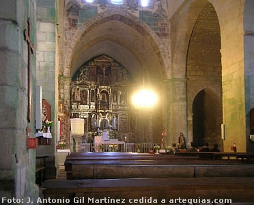 Interior de la iglesia del Monasterio de Oia, junto a Baiona