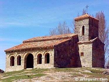 Iglesia prerrománica y románica de  un monasterio del siglo X. Santibáñez del Val