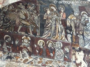Escenas de la Pasión. Pinturas murales góticas del castillos de Alcañiz, Teruel